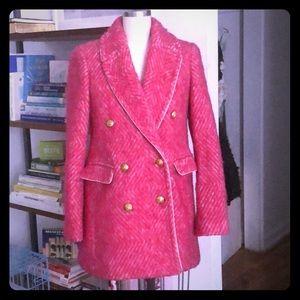 Vibrant pink J Crew coat!